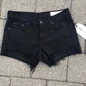Rag and Bone black jean shorts